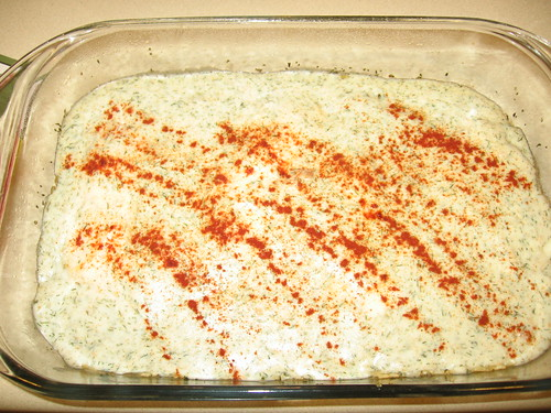 Baked Fish with Creamy Dill Sauce