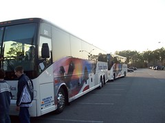 Bus 1 and Bus 2 (guardianone) Tags: vanhool motorcoach myrtlebeachnc 2008wlhsbandtrip