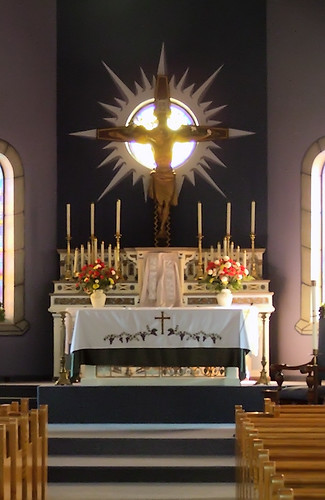 Saint John the Baptist Roman Catholic Church, in Gildehaus, Missouri, USA - altar