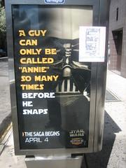 IMG_6336.JPG (tantek) Tags: ny newyork starwars ad advertisement annie spike vader visitingjane