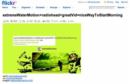 flickr as a blog platform