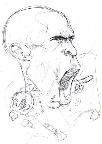 caricature Thierry Henry pencil sketch