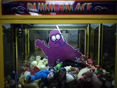 Grimace is stuck in the claw machine