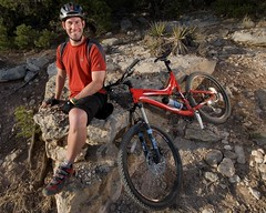 Happy to be Riding Again (benrobertsabq) Tags: sport cyclist cancer athlete survivor amputee prosthetic hipdisarticulation brettweitzel