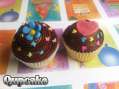 ({ Qupcake }) Tags: pink blue flower cute home yummy heart sweet chocolate made cupcake bones icing qatar flinstones qupcake