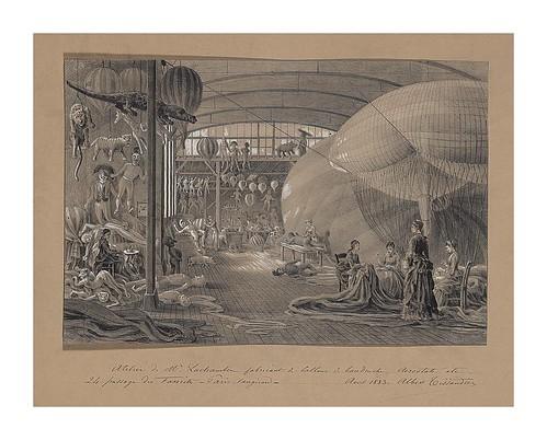05-Taller de Mr Lachambre fabricante de globos y aerostatos en agosto de 1883