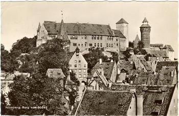 Nürnberg postcard, 1954