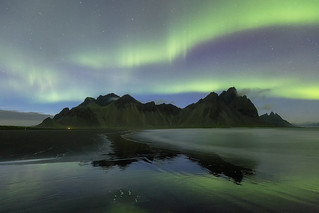 Lady Aurora On Vestrahorn