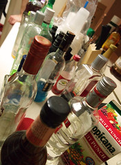 Bottles of liquor