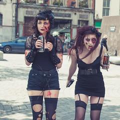 Vampire Zombies (shaymurphy) Tags: girls dublin stockings monster walking dead nikon zombie walk babes undead chicks nikkor f28 2470 walkingdead thewalkingdead d700 zombiewalkdublin dublinzombiewalk dublinzombiewalk2011