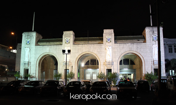 KTM Tanjong Pagar Station by night