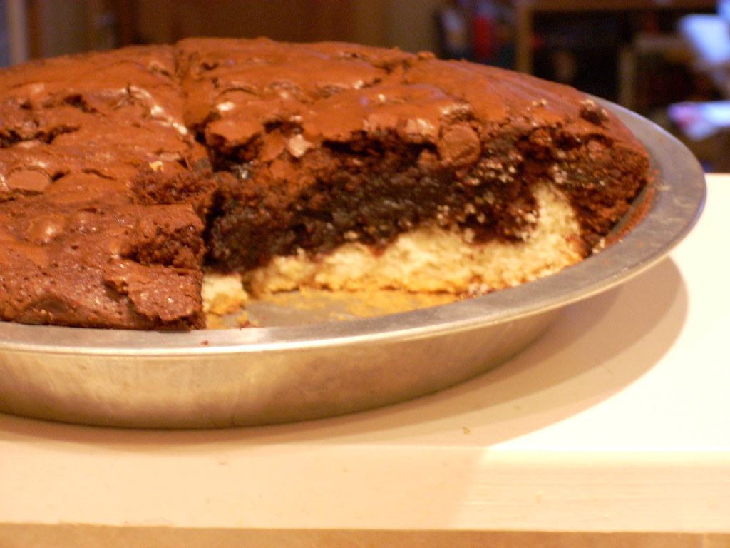 Cookie-Brownie pie