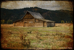 Moulton Barn on a Cloudy Day (James Neeley) Tags: barn landscape bravo tetons textured grandtetonnationalpark themoulinrouge blueribbonwinner mormonrow 25faves moultonbarn mywinners superaplus aplusphoto jamesneeley