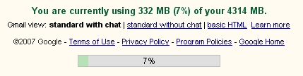 My Gmail Quota