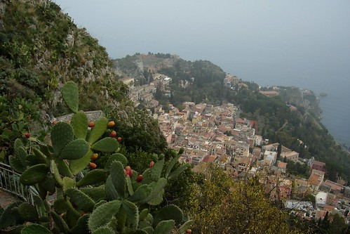 View of Taormina from Monte Tauro, Sicily