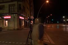 Arenys de Mar - the ghost of Cyberdave (funadium) Tags: longexposure espaa night spain funny europa europe ghost surreal eu catalonia linux catalunya maresme fantasma
