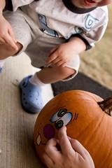 Punkin Face (sketchySteven) Tags: autumn fall pumpkin october canon20d pumpkins tatoos punkins 2007 tamron2875mm