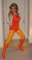Ready for action! (rgaines) Tags: halloween drag costume cosplay thundercats cheetara crossplay highheelrace