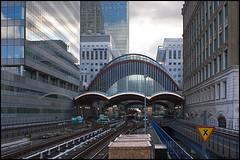 canary wharf (vcrimson) Tags: england london station underground tube docklands canarywharf dlr docklandslightrailway