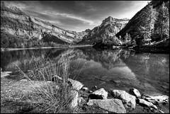 dark mountain water (olroux) Tags: bw lake water dark landscape switzerland suisse noiretblanc d200 paysage soe valais romandie olroux derborence abigfave