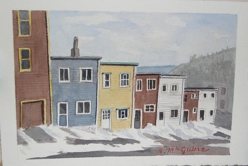 19 Nov 07 watercolour St. Johns, Newfoundland