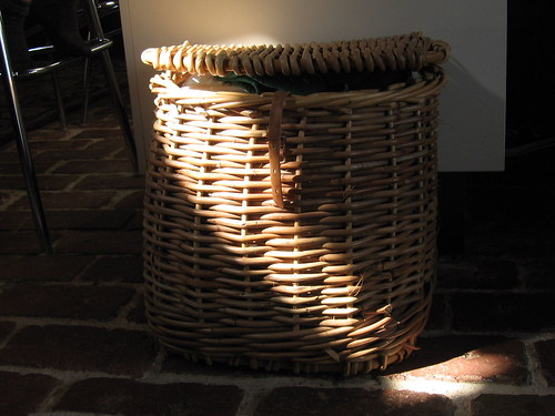 sunlight on the hat basket