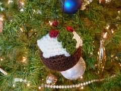 crochet christmas pudding (planetjune) Tags: crochet holly amigurumi christmaspudding crochetforchristmas