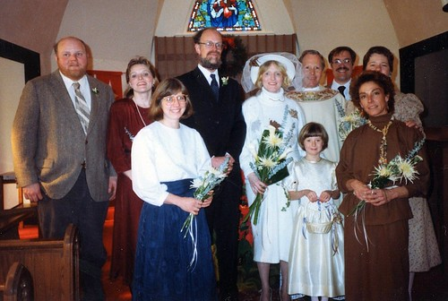 Wedding Picture Richard Bridget 1988