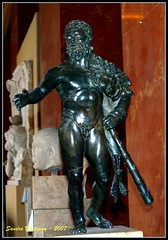 hercules, Louvre, Paris France (Sandra Whiteway) Tags: italy greek italian roman statues greece museums figures mythology sculptures lourve parisfrance sculptors lourvesculptures