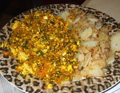 Scrambled Tofu and Diner Home Fries (joy_keaton) Tags: vegan vwav veganomicon