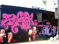 Anger (See El Photo) Tags: ca street city urban streetart color art wall graffiti alley punk paint grafiti graf anger urbanart melrose scream 100views punkrock spraypaint graff yell axis spiked shout alleyart grafite   seeelphoto chrislaskaris