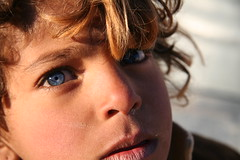 The Bluest Eye (hazy jenius) Tags: travel portrait people eye girl kids children child middleeast backpacking journey syria palmyra bedouin tadmoor tadmour