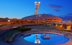 Olympic Stadium into the blue night | Montreal, Quebec, Canada | HDR* | davidgiralphoto.com (David Giral | davidgiralphoto.com) Tags: longexposure blue urban canada david architecture night lights big nikon long cityscape quebec o dusk stadium montreal hour olympic d200 crpuscule dri hdr stade olympique giral nikond200 18200mmf3556gvr tthdr copyrightdgiral davidgiral