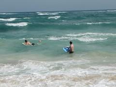 Body Surfing at Tulum beach (FlckrBrnd) Tags: sun beach tulum palmtree mexiko yuccatan