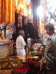 bazaar at madurai temple