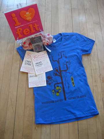 March raffle package from Handmade Nation!