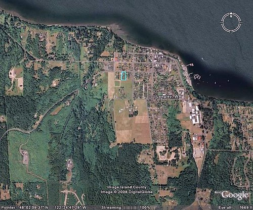 Langley is bordered by agriculture and Puget Sound