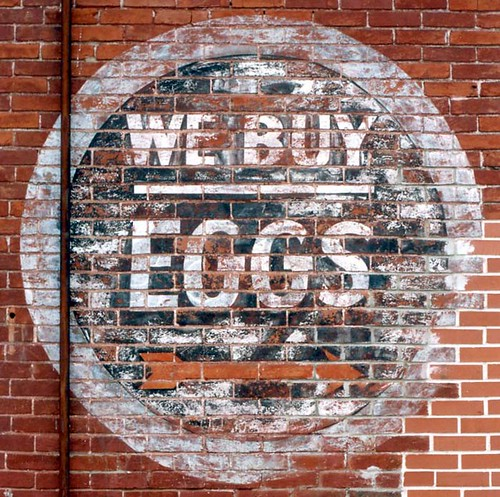 We Buy Eggs - Wall Sign in La Porte City, Iowa by kyfireenginephoto