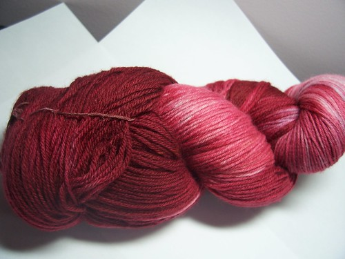 Hand dyed Blood red