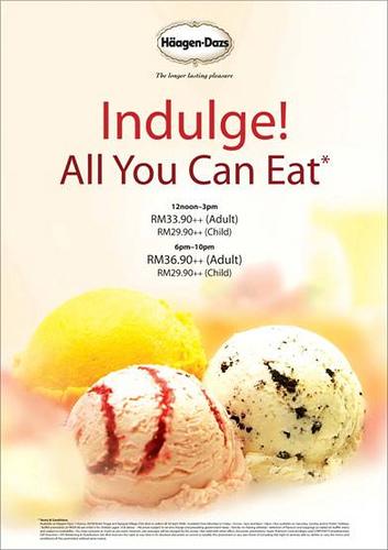 Haagen Daz All You Can Eat Ice Cream Buffet