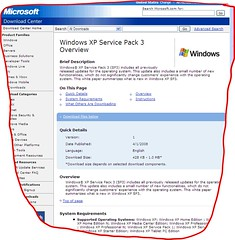 Windows XP Service Pack 3 online