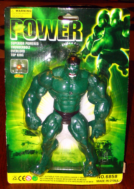 Power: Superior Powered Thunderbolt Overlord Top King Hulk Ripoff -- SHINE