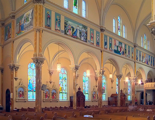 Saint Anthony of Padua Roman Catholic Church, in Saint Louis, Missouri, USA - nave