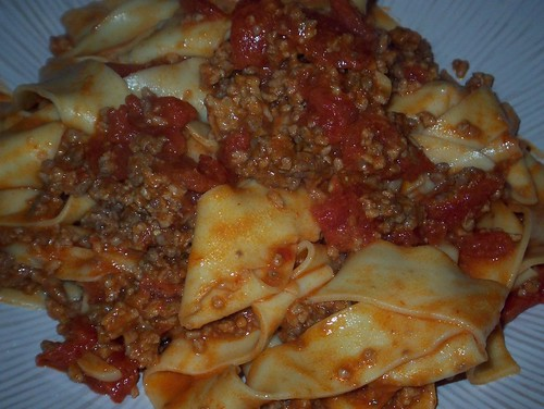 pasta with veal ragu