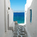 Seaside alley (Mykonos) by marcelgermain