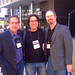 With author Jason Starr and reviewer David J. Montgomery at Bouchercon 2008.