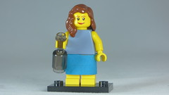 Brick Yourself Custom Lego Figure Sweet Girl with Bottle