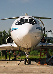 RA-85655 Tupolev TU-154M Open Skies aircraft (Dave Russell (700k views)) Tags: ra85655 tupolev tu154m tu154 tu 154 m 85655 aircraft aeroplane airplane vehicle transport russia russian air force open skies yuri gagarin cosmonaut training center moscow star city chaklovskaya outdoor soviet jet jetliner airliner tri trijet ttail t tail space cosmonaught flying aviation aero
