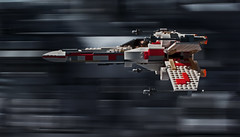 """Just like Beggar's Canyon."" (Blockaderunner) Tags: red star ship lego five space luke trench xwing wars deathstar skywalker yavin 6212"