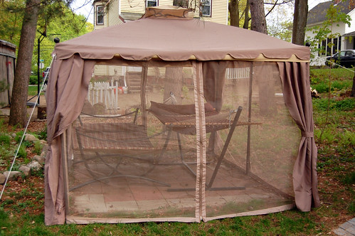 The backyard gazebo